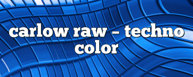 Airs on April 21, 2017 at 09:00PM Carlow Raw on enationFM you may also like: Carols Raw – Techno Color