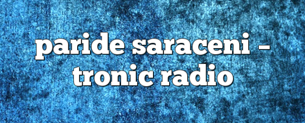 Airs on April 19, 2017 at 04:00PM Tune In to listen to Smith's big room sounds you may also like: paride saraceni – Tronic Radio oscar l – Tronic Radio […]