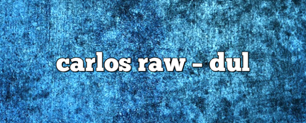 Airs on March 28, 2021 at 07:00PM Carlos Raw on enationFM